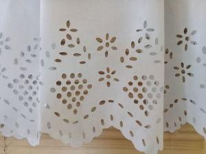 Стаинный подзор Вышивка ришелье 1950е года. Ярмарка Мастеров - ручная работа, handmade.
