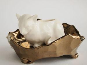 Наши новинки — керамические подставки для Белой Кошки. Ярмарка Мастеров - ручная работа, handmade.