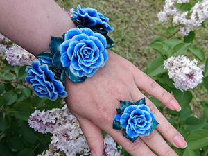 Создаем браслет  «Синий цвет» из полимерной глины. Ярмарка Мастеров - ручная работа, handmade.