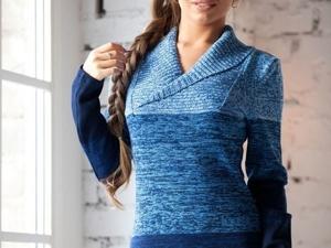 Аукцион на Вязаное меланжевое платьице! Старт 2500 руб.!. Ярмарка Мастеров - ручная работа, handmade.
