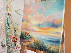 """Жить сейчас и картина """"Прогулка в сейчас. Ярмарка Мастеров - ручная работа, handmade."""