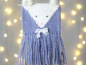 Мастер-класс по ткачеству «Гобелен мышка». Ярмарка Мастеров - ручная работа, handmade.