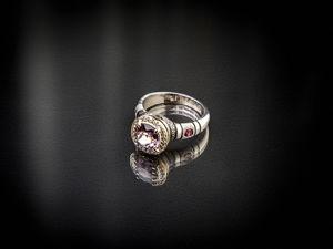 Видео кольца срозовой шпинелью из Бирмы из золота и серебра. Ярмарка Мастеров - ручная работа, handmade.