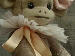 Мастер-класс: одеваем обезьянку тедди. Часть 2: шьем воротник. Ярмарка Мастеров - ручная работа, handmade.