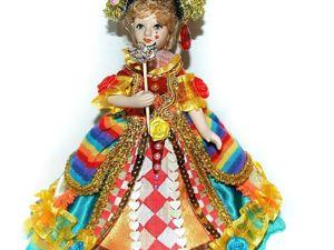 Моя Коломбина — кукла из Венецианской Комедии дель арте. Ярмарка Мастеров - ручная работа, handmade.