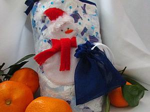 """МК упаковка для подарков """"Снеговик спешит на праздник"""". Ярмарка Мастеров - ручная работа, handmade."""