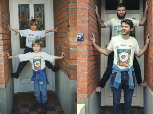 They Made Mom Cry: The Luxton Brothers Recreated Their Childhood Photos And Made Unusual Gift. Livemaster - handmade