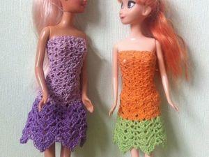 Вяжем элегантное платье для куклы крючком. Видео мастер-класс. Ярмарка Мастеров - ручная работа, handmade.