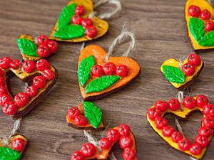 Лепим из соленого теста яблочные сердечки. Ярмарка Мастеров - ручная работа, handmade.