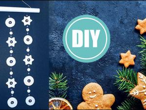 Как сделать новогоднюю гирлянду своими руками. Ярмарка Мастеров - ручная работа, handmade.