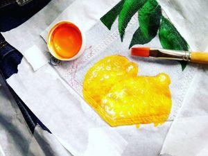 Роспись кармашков акриловыми красками. Ярмарка Мастеров - ручная работа, handmade.