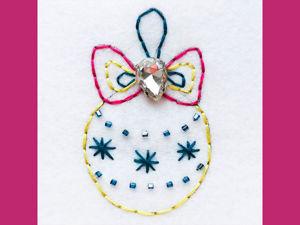 Мастер-класс для детей: вышивка «Елочный шар». Ярмарка Мастеров - ручная работа, handmade.