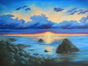 Скидка на картины с морем. Ярмарка Мастеров - ручная работа, handmade.