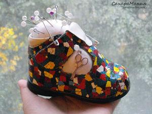 Делаем игольницу из детского ботиночка. Ярмарка Мастеров - ручная работа, handmade.