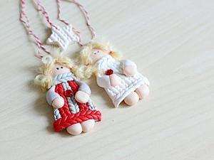 Делаем очаровательного рождественского ангела. Ярмарка Мастеров - ручная работа, handmade.
