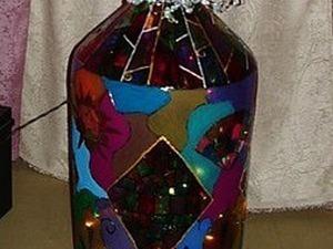 Делаем бутылку-светильник. Ярмарка Мастеров - ручная работа, handmade.