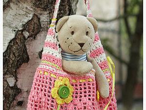 Летняя сумочка-авоська-торбочка для девочки. Ярмарка Мастеров - ручная работа, handmade.