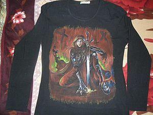 Живопись на футболке.. Ярмарка Мастеров - ручная работа, handmade.