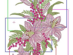 Стыковки разделенных на части вышивальных дизайнов. Ярмарка Мастеров - ручная работа, handmade.