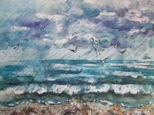 Акварель, море, формат А3. Ярмарка Мастеров - ручная работа, handmade.
