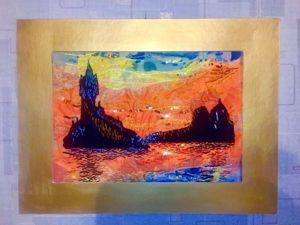 Рисуем копию картины Клода Моне в технике арт-текстиль. Ярмарка Мастеров - ручная работа, handmade.