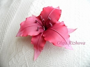 Сборка цветка из ткани ЛИЛИЯ (фото мастер-класс). Ярмарка Мастеров - ручная работа, handmade.