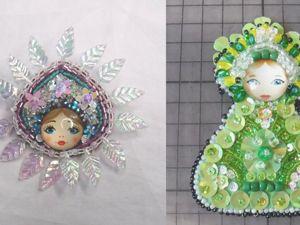 Вышиваем новогодние брошки: Елка и Снежинка. Ярмарка Мастеров - ручная работа, handmade.