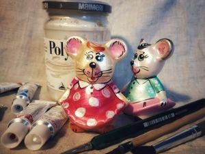 Новый мастер-класс по росписи мышек. Ярмарка Мастеров - ручная работа, handmade.
