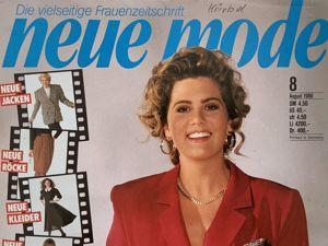 Neue mode 8 1988 (август). Ярмарка Мастеров - ручная работа, handmade.