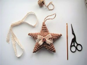 Crocheted Christmas Toys: A One Hour Guide on Making a Jute Star. Livemaster - handmade
