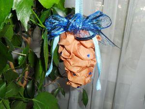 Мастерим елочную игрушку своими руками: шишка из ткани. Ярмарка Мастеров - ручная работа, handmade.