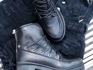 -20% на все Чёрные ботинки включая НОВИНКИ до 10 сентября!. Ярмарка Мастеров - ручная работа, handmade.
