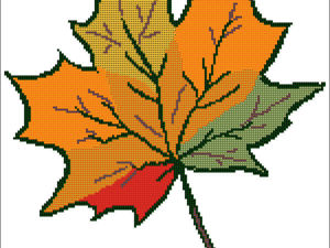 Мастер-класс по созданию простейшей схемы для вышивки крестом в Pattern Maker «Осенний лист». Ярмарка Мастеров - ручная работа, handmade.