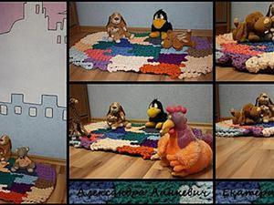Вяжем крючком овальный коврик в детскую комнату. Ярмарка Мастеров - ручная работа, handmade.