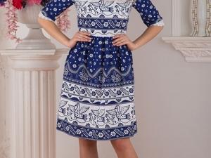 Платье Синяя Птица. Ярмарка Мастеров - ручная работа, handmade.