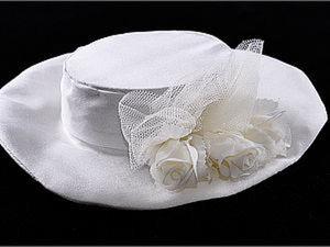 Свадебная шляпка для мишки Тедди. Ярмарка Мастеров - ручная работа, handmade.