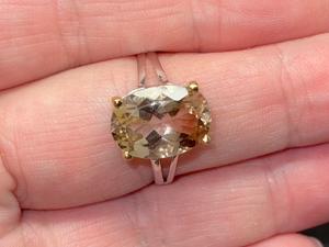 Кольцо с топазом империал серебряное, р-р 19.41. Ярмарка Мастеров - ручная работа, handmade.