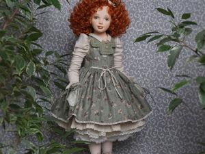 Ульяна, шарнирная текстильная кукла. Ярмарка Мастеров - ручная работа, handmade.