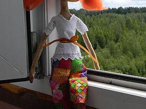 Кофейно-коричная кукла «Босоногая Ниночка». Ярмарка Мастеров - ручная работа, handmade.