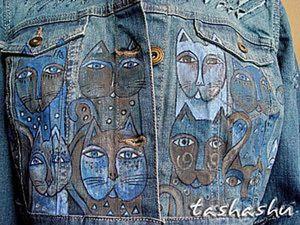 """Апгрейд джинсовки или как """"уделать"""" новую куртку.. Ярмарка Мастеров - ручная работа, handmade."""