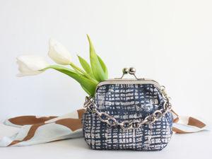 Шьем сумочку с фермуаром на винтах. Ярмарка Мастеров - ручная работа, handmade.