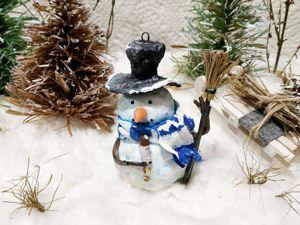 Дополнительные фото снеговика с мороженым. Ярмарка Мастеров - ручная работа, handmade.