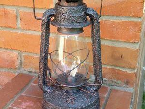Украсим дачу! Керосиновая лампа под ковку с бесплатой доставкой. Ярмарка Мастеров - ручная работа, handmade.