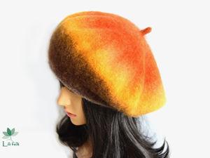 Новые модели вязано-валяных беретов и шапок к осенне-зимнему сезону 2021-22. Ярмарка Мастеров - ручная работа, handmade.