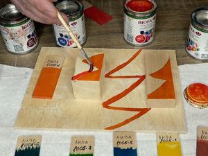 Тестирую краску Биофа: роспись на поверхности и фиолетовый цвет. Ярмарка Мастеров - ручная работа, handmade.