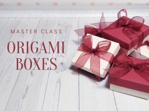 Мастерим коробочки оригами. Ярмарка Мастеров - ручная работа, handmade.