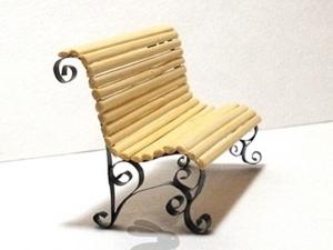 """Обещанный мастер-класс """"Миниатюрная скамейка"""". Ярмарка Мастеров - ручная работа, handmade."""