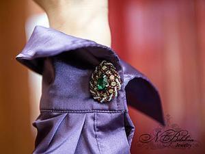 Мастер-класс по вышивке бисером: запонки. Ярмарка Мастеров - ручная работа, handmade.