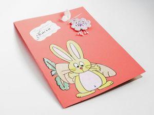 Мастерим нарядную открытку к Пасхе с цветами и бабочками. Ярмарка Мастеров - ручная работа, handmade.