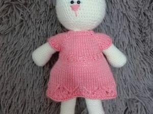 Вяжем платье для игрушки. Ярмарка Мастеров - ручная работа, handmade.